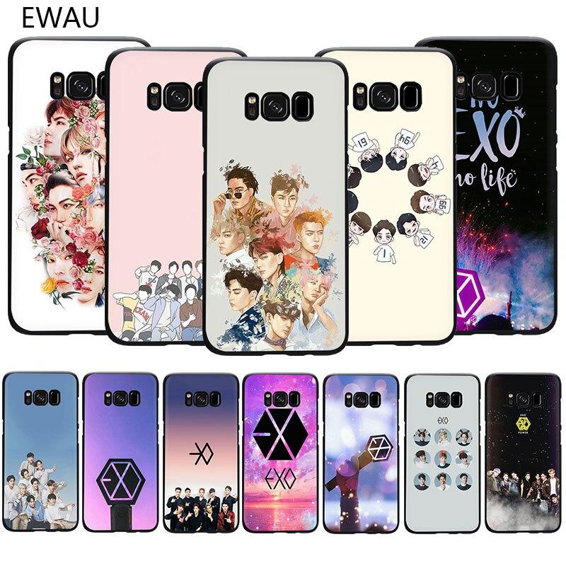 EXO band k-pop kpop Weiche TPU telefon abdeckung fall für Samsung S6 S7 Rand S8 S9 S10 Plus s10e Hinweis 8 9 10 M10 M20 M30