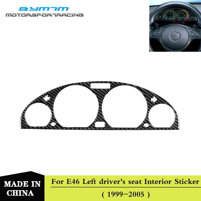 Real Carbon fiber Automotive interior Meter Instrument Decoration Sticker For BMW E46 M3