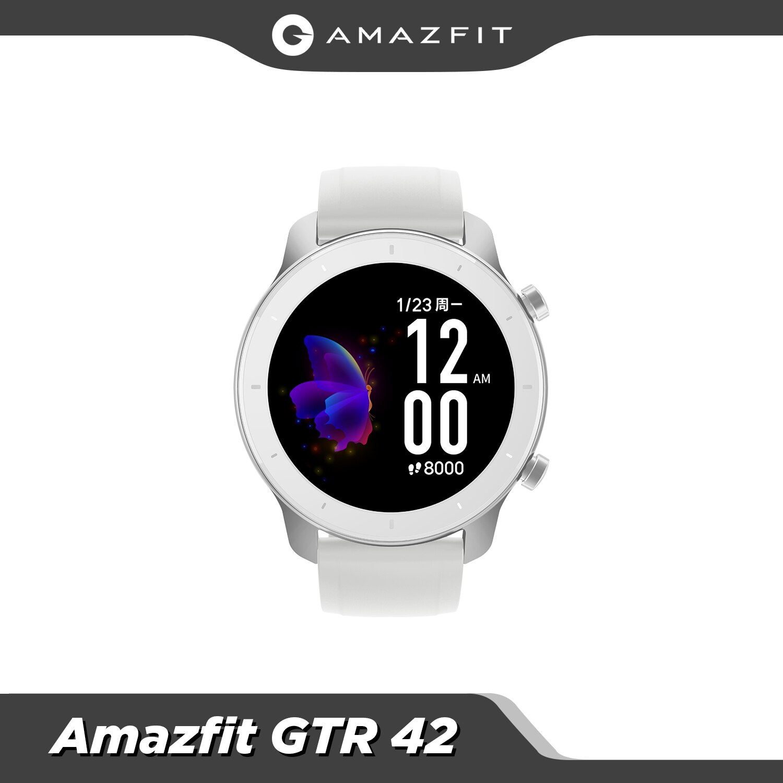 【 24h شيب】 العالمي الجديد Amazfit GTR 42 مللي متر ساعة ذكية 5ATM مقاوم للماء Smartwatch 12 أيام بطارية تحكم بالموسيقى ل IOS أندرويد