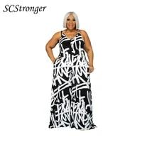 scstronger summer ladies new dress suspenders irregular graffiti polyester slim sexy v neck plus size womens clothing 2021