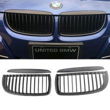 E90 E91 Black Front Kidney Grill Grilles for BMW Saloon 05-08 325i 328i 335i 4D