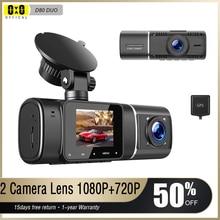 Dual Lens Car Dash Cam Dvr Registrator Full HD Video Recorder Front and Inside Cabin Camera for Uber
