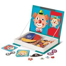 Rompecabezas divertido Dressup Montessori para bebé, libro magnético DIY creativo, pegatinas 3D estéreo, juguetes de educación temprana para niños