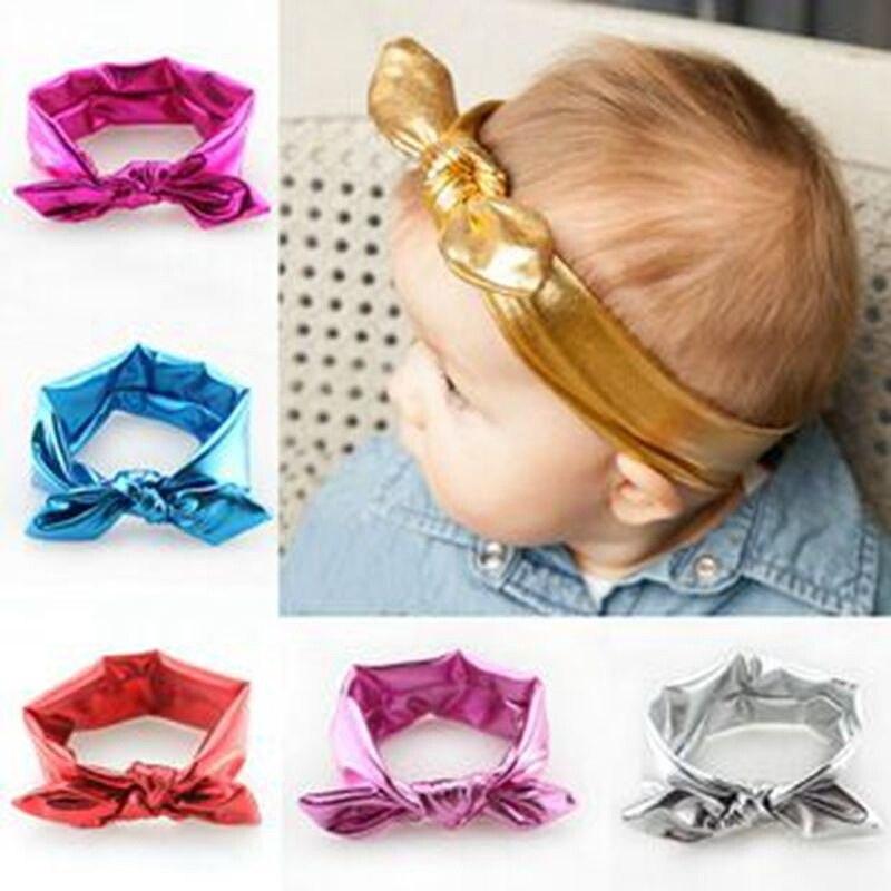 Laços de Cabelo Para As Mulheres de Couro PU Arcos de Cabelo Para Os Bebés Headbands Ouro Preto Elastic Hairband Headwear Acessórios Para o Cabelo Bonito