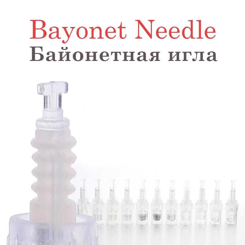 Bayonet Tip Titanium12 36 42 Pin Nano Needles for MYM Dermapen 3 5 7 9 Cartridge Niddles for Derma Dr.Pen Electric Microneedling