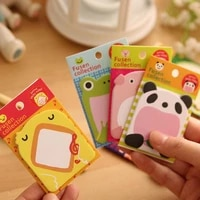 20 pagesset cute stationery post note cartoon panda pig frog message sticker n times memo pad label office school supplies