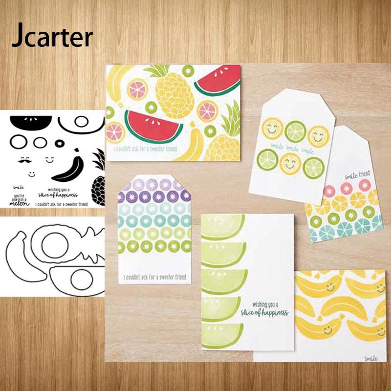 Melancia frutas abacaxi corte de metal dados e selos de borracha scrapbooking artesanato estêncil diy álbum modelo de papel decoração