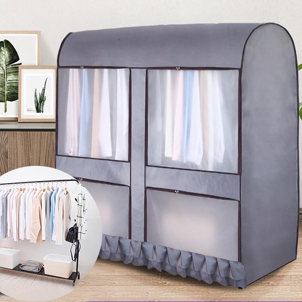 Colgador de pie para el suelo estante de secado bolsa de almacenamiento de la cubierta del polvo para el traje abrigo chaqueta ropa organizador colgante para el dormitorio