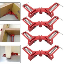 Pince multifonction à Angle droit de 4 pouces, pinces à onglet de 100mm à 90 degrés pour cadre photo, support dangle, outil à main pour le travail du bois