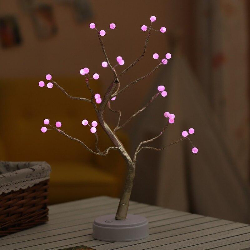 2019 Table Lamp 36/108 LED Night Lights Bonsai Tree Lights Starry Lights Family Reunion Wedding fairy lights enlarge