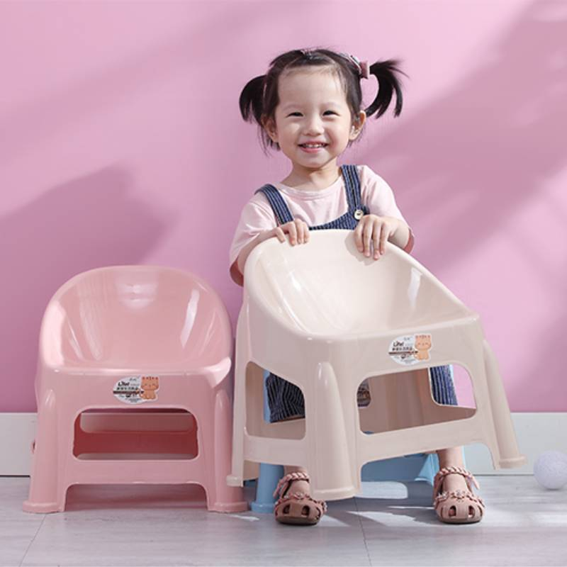 Детская мебель Thickened Non-slip Детская мебель Children's Chair Furniture Baby Bench Back Lovely Plastic Kid Small Benchs