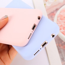 Candy Colors Case Soft TPU Cover For Samsung Galaxy S21 S20 FE S10 S9 S8 S7 S6 edge S10e Note 5 8 9