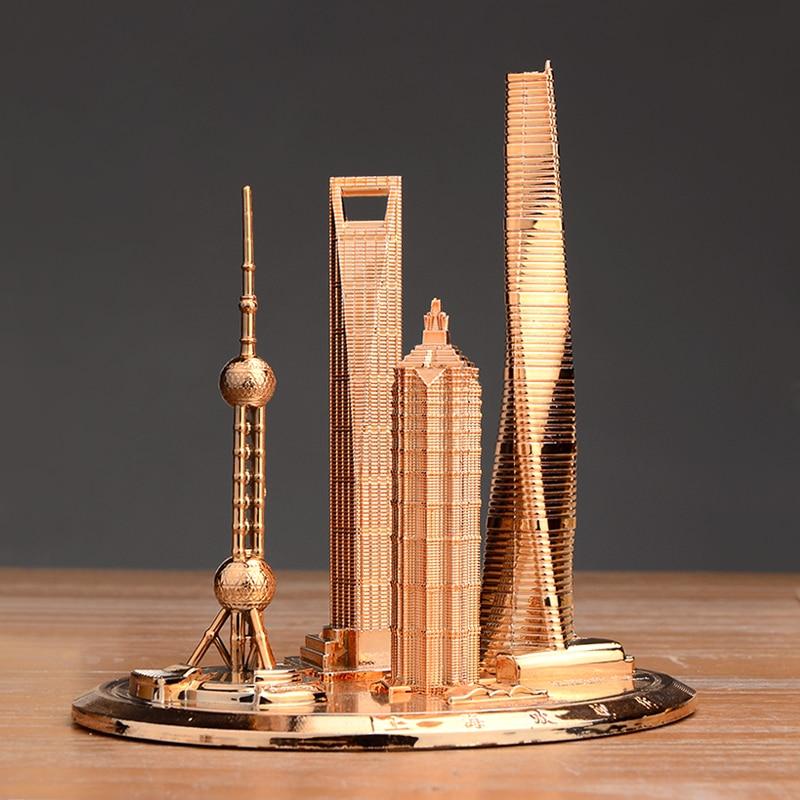 SHANGHAI BUILDING COMPLEX FLOOR TOURISM MEMORIAL ORIENTAL PEARL TOWER GLOBAL FINANCIAL CENTER JINMAO BUILDING DECORATION MODEL