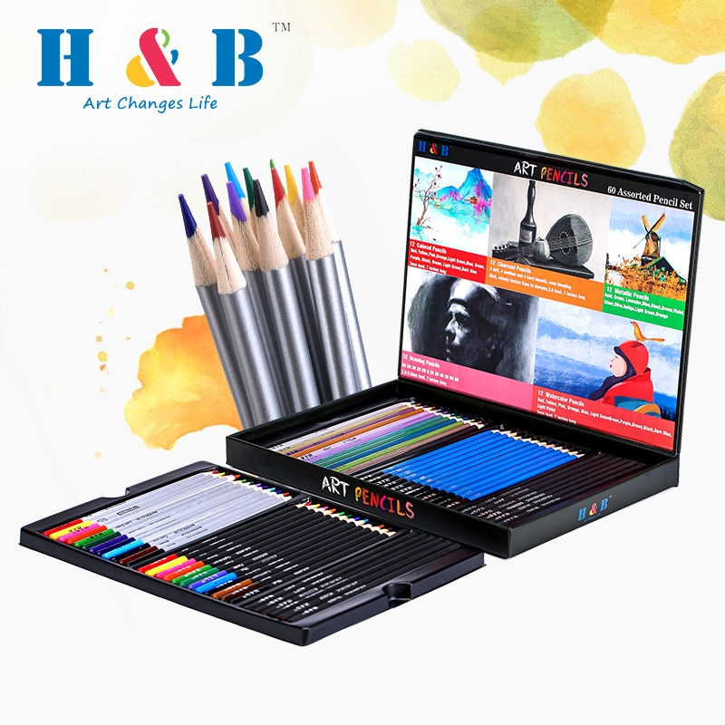 Фото - 60 Colors Wooden Colored Pencils Professional Water Soluble Pencils Art Supplies For Children Painting Drawing School Stationary stabilo wooden colored pencils 2606803 colored pencil for boys and girls children sets