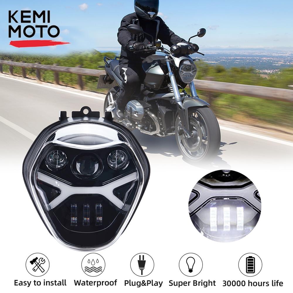 مصابيح أمامية LED للدراجات النارية ، مجموعة مصابيح أمامية كاملة لجهاز عرض LED ، لسيارات BMW R1200R ، R ، 1200R ، 2016 ، 2017 ، 2018 ، 2019 ، 2020