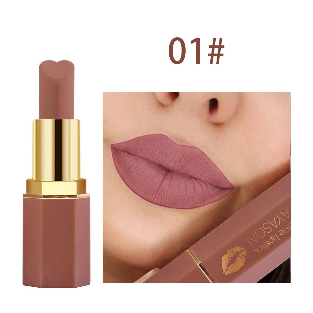 Lápiz labial resistente al agua, Color Nude, mate, maquillaje profesional, terciopelo, lápiz labial mate, cosméticos, lápiz labial de larga duración para mujeres