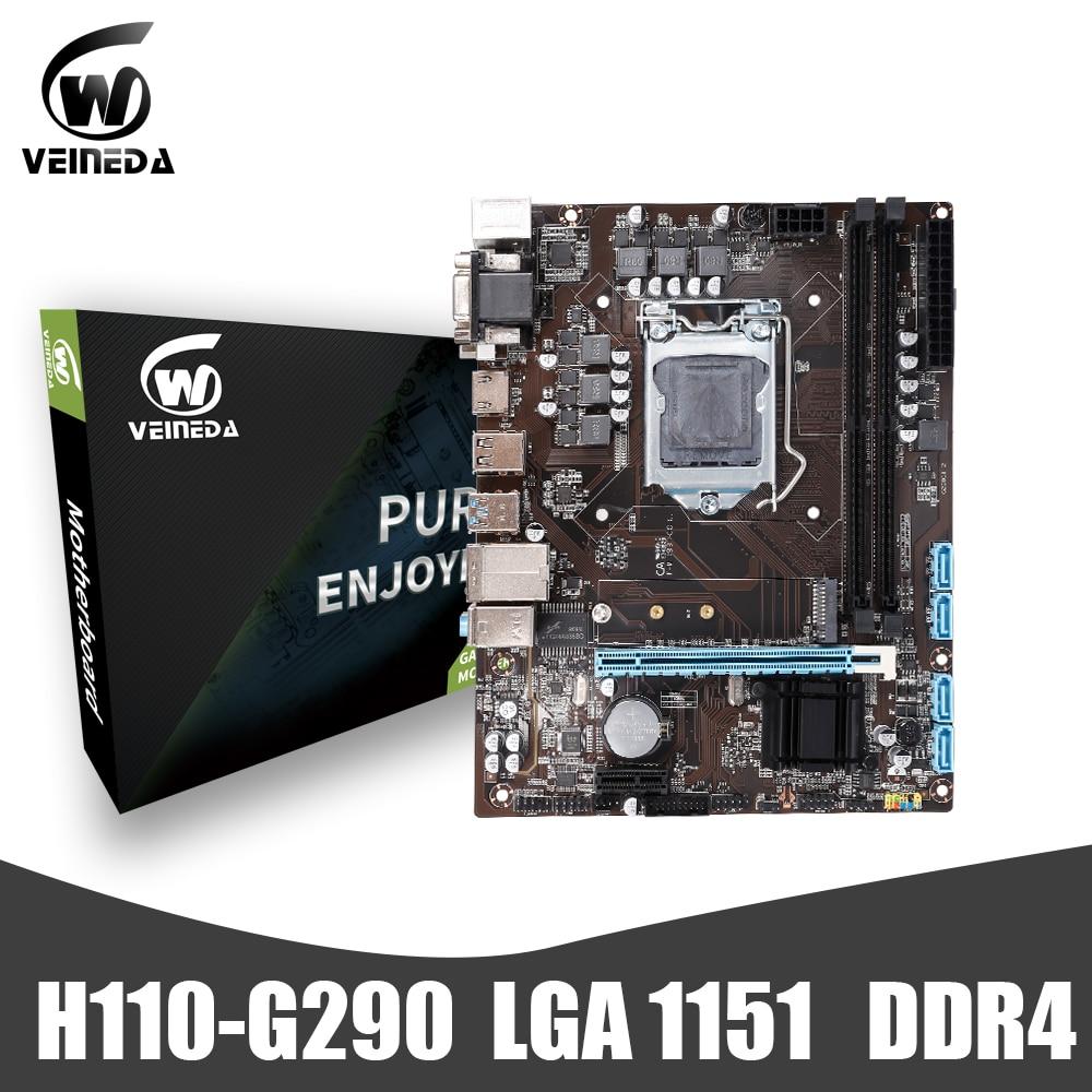 VEINEDA LGA1151 DDR4 материнская плата H110-G290 32 Гб DDR4 Настольная компьютерная материнская плата USB3.0 SATA2.0
