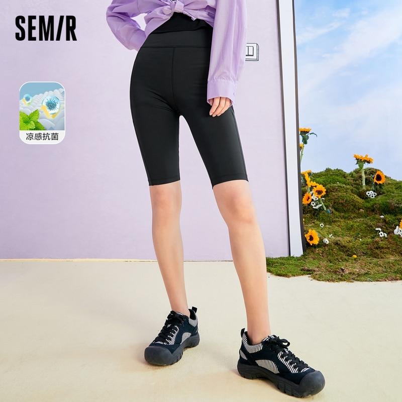 SEMIR Casual Pants Women Cool Shorts 2021 Summer New Cycling Pants Hip High Waist Slim Leggings