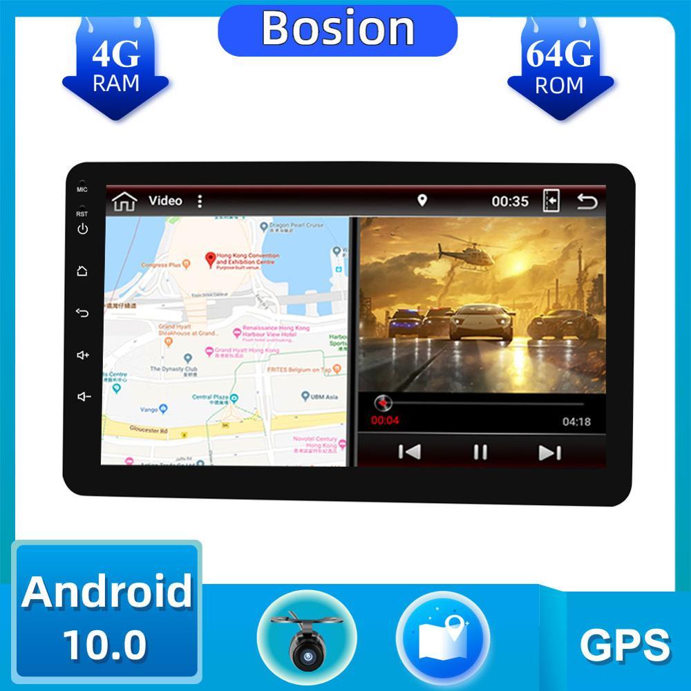 1 Din 8 ''PX6 Universal Android 10,0 4GB RAM coche Radio Estéreo GPS navegación WiFi 1024*600 pantalla táctil 1din autorradio coche PC