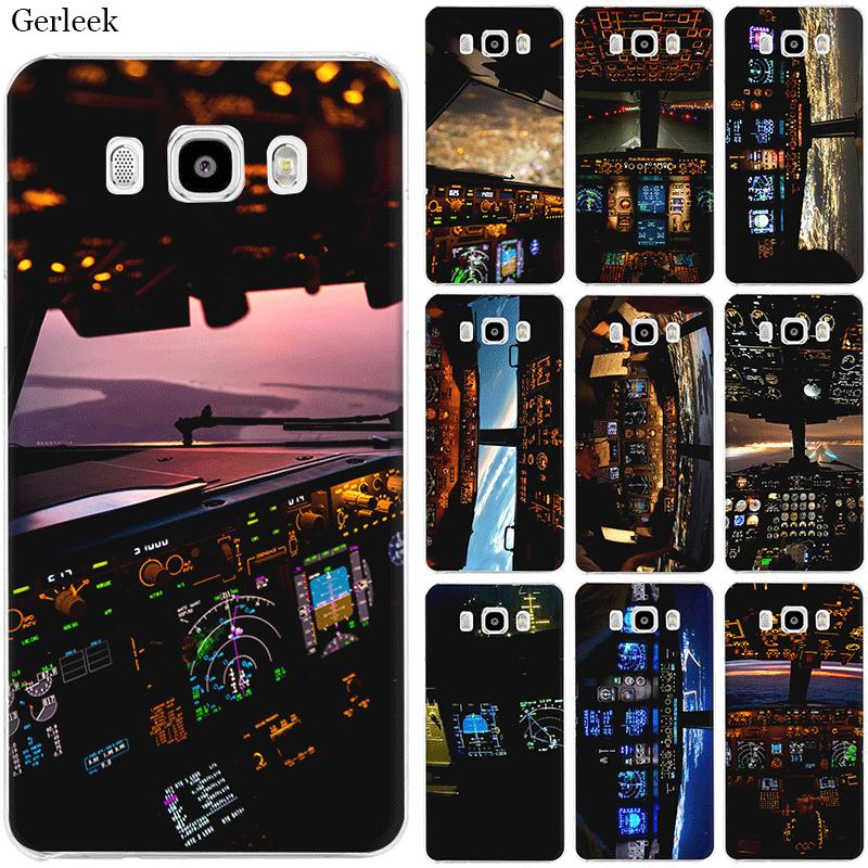 Caja del teléfono móvil para Samsung S7 borde S8 S9 S10 S10e Nota 8 9 10 Plus M10 M20 M30 M40 aeronaves avión cabina