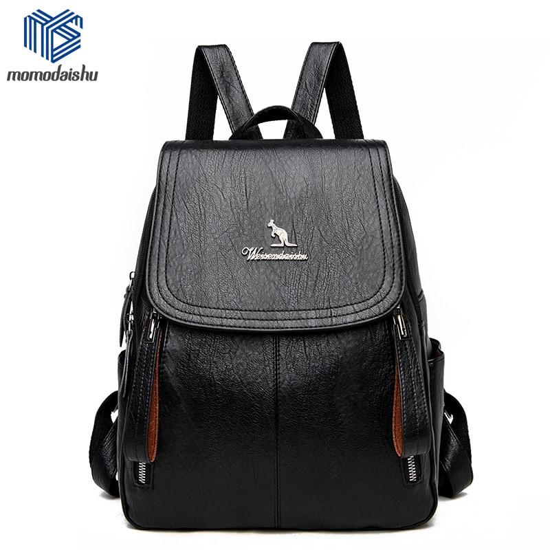 Women Backpack 2021 Leather Backpacks Female Designer Backpack For Girls School Bag High Quality Travel Bagpack Ladies Sac A Dos