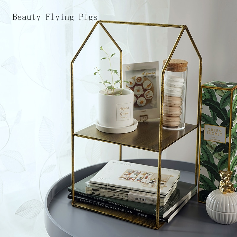 Bastidor de postre dorado retro de venta directa, estante de almacenamiento para baño, estante de plata, soporte de exhibición de pastel para comida fría