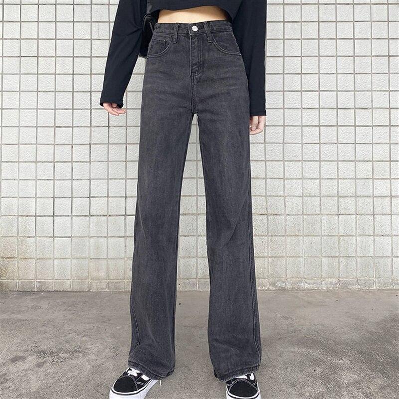 Женские джинсы с завышенной талией, модные брюки для мамы, свободные удобные повседневные джинсовые брюки-бойфренды в стиле Харадзюку