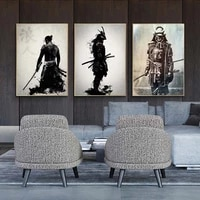japanese samurai canvas painting modern wall art pictures abstract for living room home decoration posters and prints