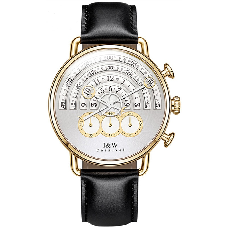 CARNIVAL Brand Fashion Watch Men Women Luxury Waterproof Sport Quartz Wristwatch Gold Silver Chronograph Clock Relogio Masculino enlarge
