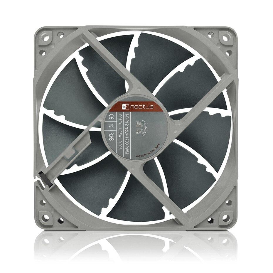 Noctua NF-P12 redux 120mm PWM 4Pin Computer Case Fan Silent 25.1dBA 12cm CPU cooling fans 12V Speed Adjust Cooler radiator fan