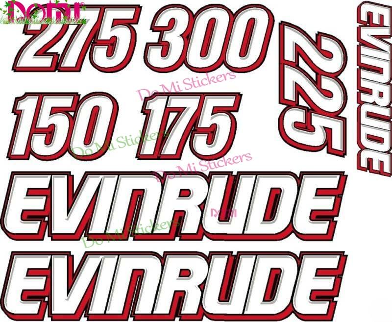 EVINRUDE лодочный мотор Refurb наклейка и лекарственных средств (FDA все двигателя Мотокросс гоночный шлем для ноутбука багажник Наклейка на стену