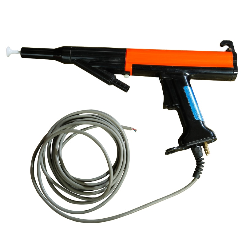 Electrostatic spraying machine equipment Red Nordson powder manual spray gun built-in high-voltage negative ion spray gun enlarge