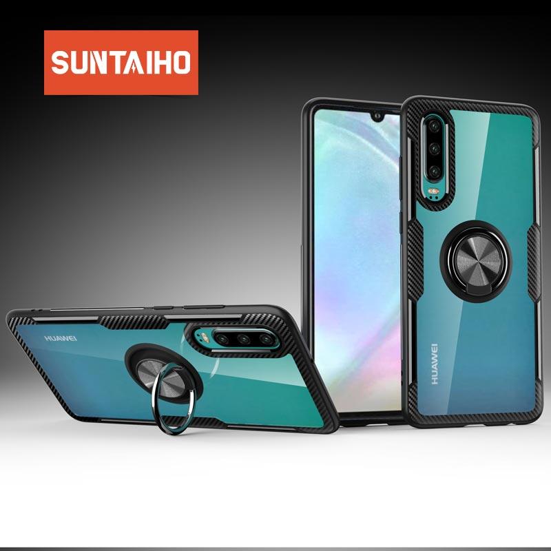 Funda Suntaiho para Huawei P20 P30 lite P smart 2019 P20 P30 pro mate 10pro, funda protectora de silicona TPU a prueba de golpes