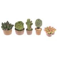 Mini plantes vertes en pot  1 piece  jolie Statue de Cactus du desert  petite Figurine  decoration artisanale  pour la maison