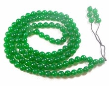 Tibet bouddhiste 108 perles de Jade vert collier de prière Mala 6mm
