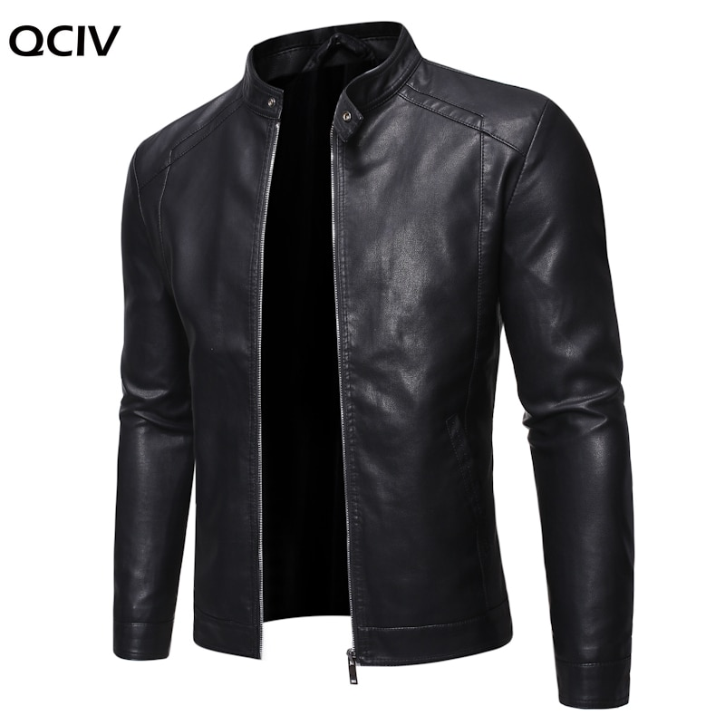 Men Faux Leather Jacket Motorcycle 5XL Men's Jackets Black Jaqueta de Couro Masculina Outwear Male PU Leather Coats Mens