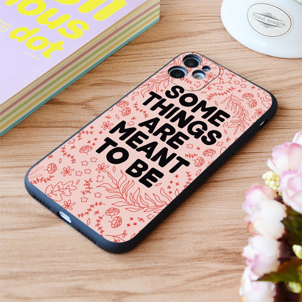 For iPhone Some Things Are Meant Print Soft Matt Apple iPhone Case 6 7 8 11 12 Plus Pro X XR XS MAX SE