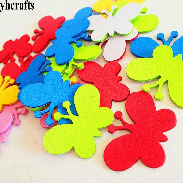 1 g/lote pegatinas de espuma mariposa nueva decoración de primavera artesanías de Pascua jardín de infantes Juguetes diy calcomanía de pared hacer tu propio OEM personalizado