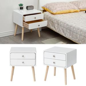 Nordic Solid Wood Bedside Table With Drawer Home Simple Storage Cabinet Nightstands Small Apartment Bedroom Bedside Table HWC