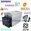 BTM Miner Antminer B7 96KH/s Tensority 528W avec BITMAIN 1600W PSU Asic mieux que antminer S9 S9K S9SE T17 Z11 M3 Z1 + Ebit E10