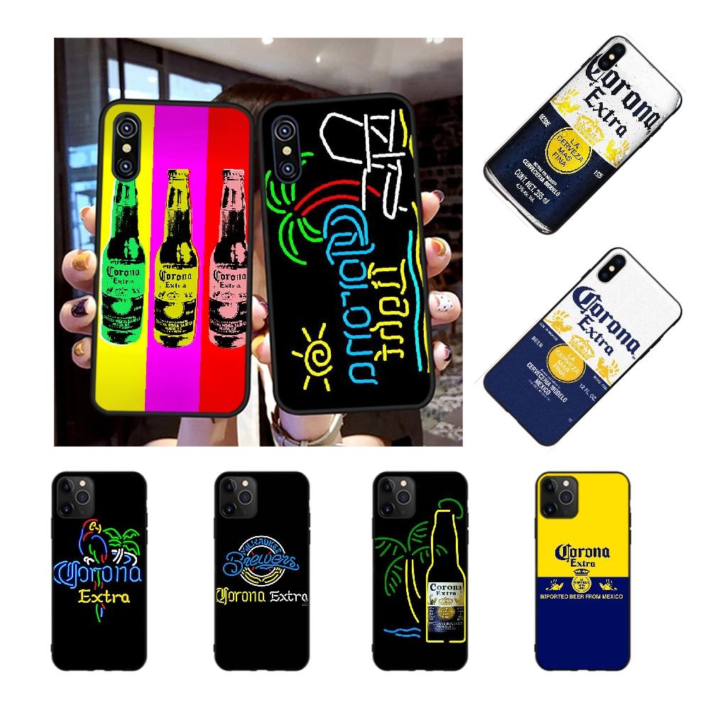 NBDRUICAI CORONA-cerveza suave de silicona cubierta del teléfono TPU para iPhone 11 pro XS MAX 8 7 6 6S Plus X 5S SE XR caso
