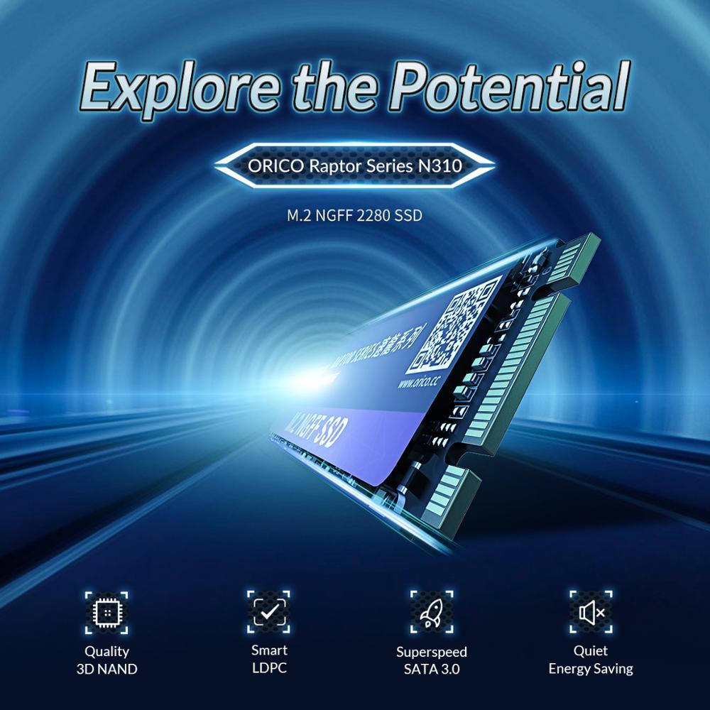 ORICO M.2 NGFF SATA SSD 120GB 240GB 480GB 960GB M2 SATA3.0 Internal Solid State Hard Drive 2280mm For Game User Desktop Laptop enlarge