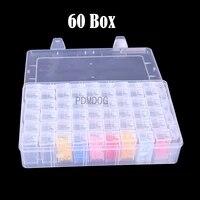 60 bottle box dismountable diamond painting accessories diamond embroidery cases pp plastics box organizer home storage boxes