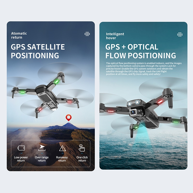 S167 pro GPS Drone 4K Profesional Dual HD Camera Dron Brushless Motor Flight 20 Mins RC Helicopter FPV Foldable Quadcopter Toys enlarge