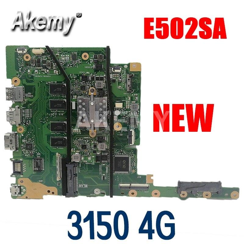 Akemy E502SA اللوحة ل ASUS E402S E502S E402SA E502SA R417S Laotop اللوحة مع N3150U-CPU 4GB-RAM 64G-SSD