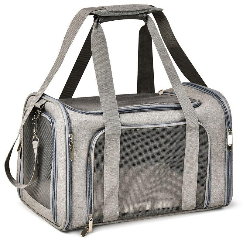 Impermeable gato mochila perro gato bolsa de transporte Oxford tela de malla transpirable fácil limpieza gato jaula saliente de transporte de mascotas mochila