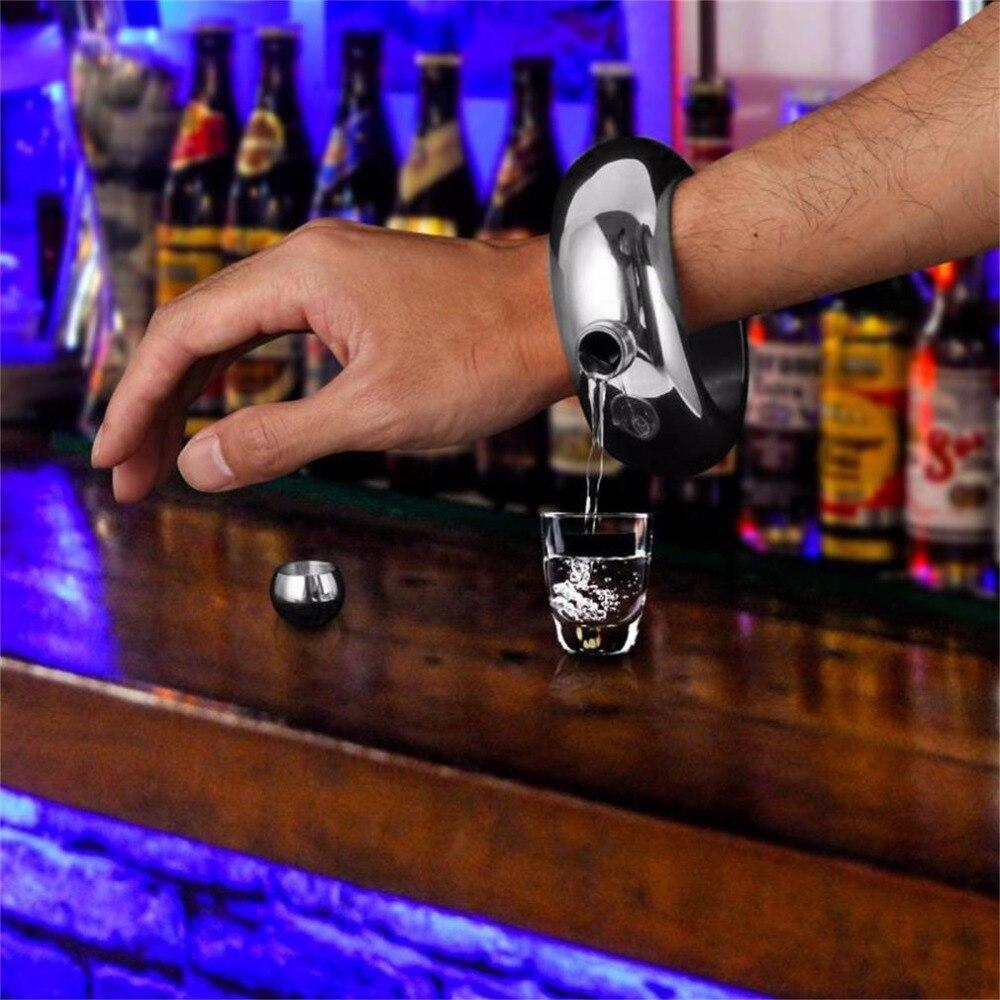 3,5 унций/100 мл кувшин из нержавеющей стали браслет Уникальный алкогольный фляга браслет с воронкой нежный виски браслет Роскошный Drinkwar Новый горячий