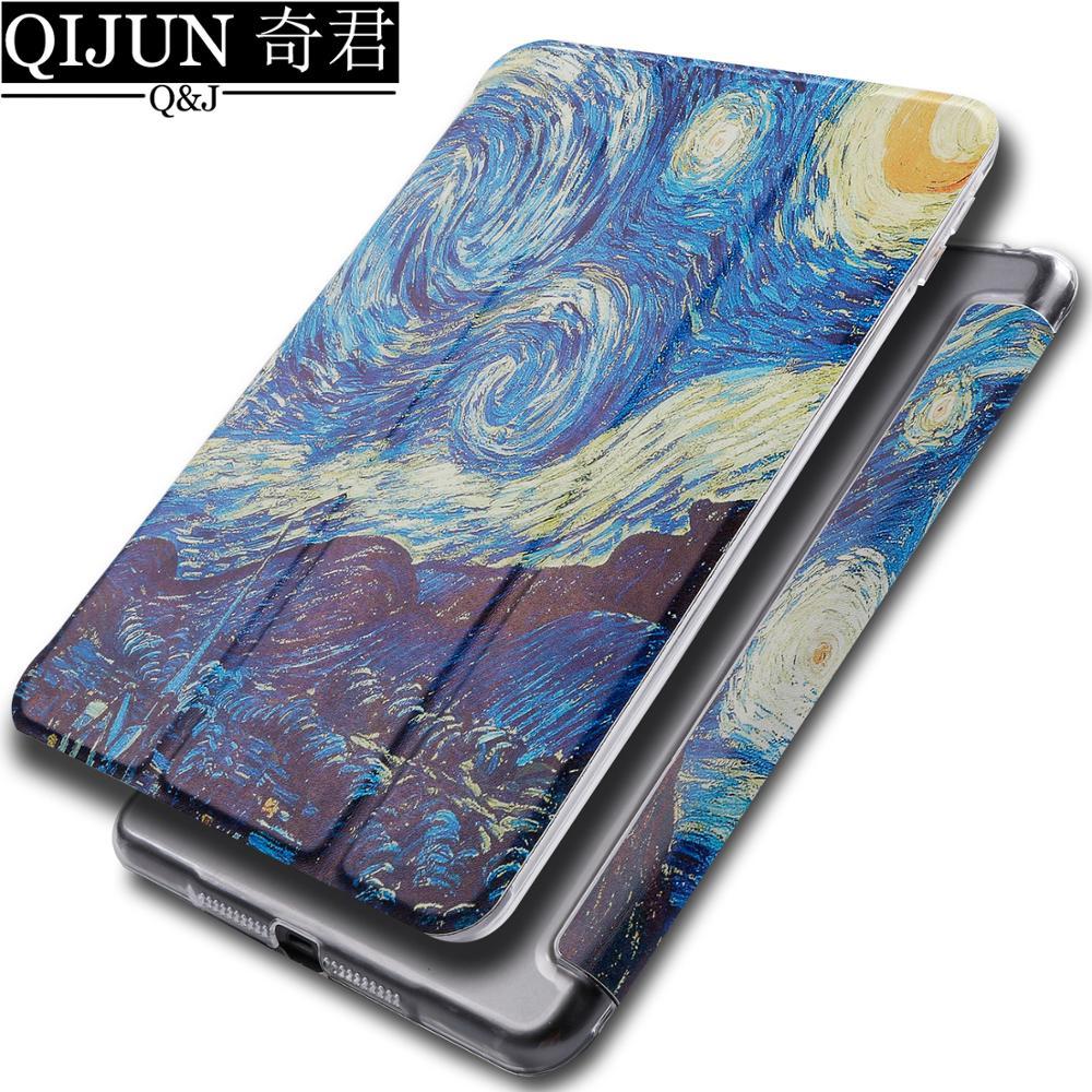 "Carcasa para tableta con tapa para Samsung Galaxy Tab A 10,1 ""2019 pintura Smart wake Sleep fundas plegable soporte funda capa bolsa para SM-T515/T510"