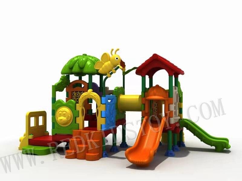 CE aprobado no tóxico y seguridad de plástico patio de juegos para jardín de infantes HZ-KID21401b