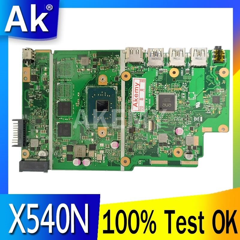 AKEMY ل ASUS X540N اللوحة الرئيسية R540N X540NA D540NA اللوحة الأم اختبار موافق